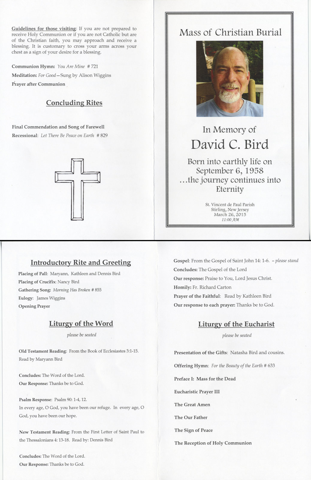 Funeral Mass Booklet