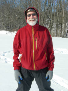 David in red medium weight nylon  jacket worn when last seen